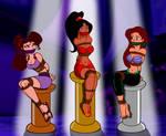 Jasmine, Ariel, and Megara Bound and Gagged 1