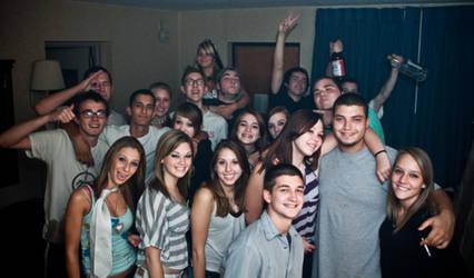 party group portrait by stupidiceblock