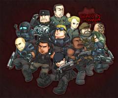 gears of war:COG TEAM by KEISUKEgumby