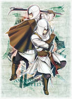 EZIO and ALTAIR by KEISUKEgumby