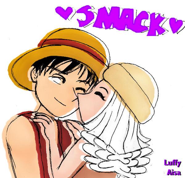 SMACK - Luffy x Aisa by tazozo