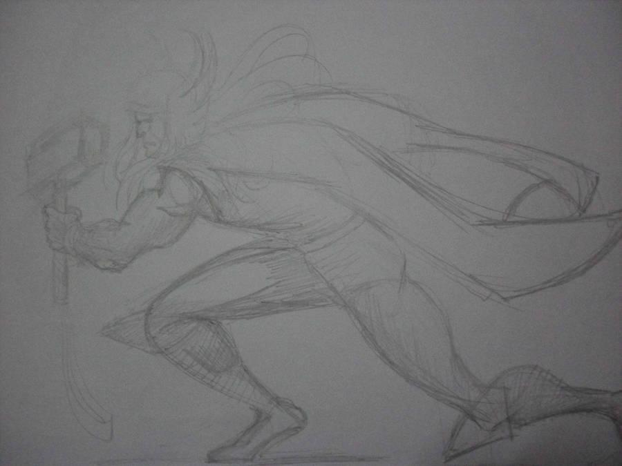 Thor Sketche by MiltonCamargo64