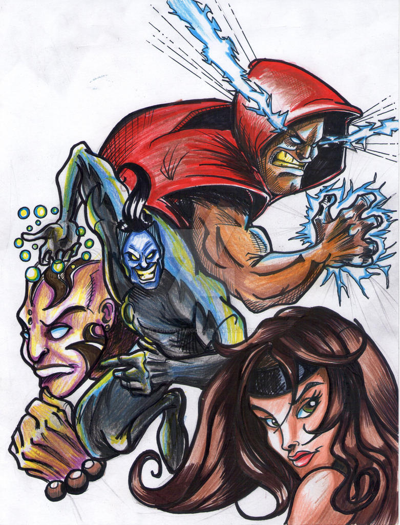 Comic Characters  Test by MiltonCamargo64