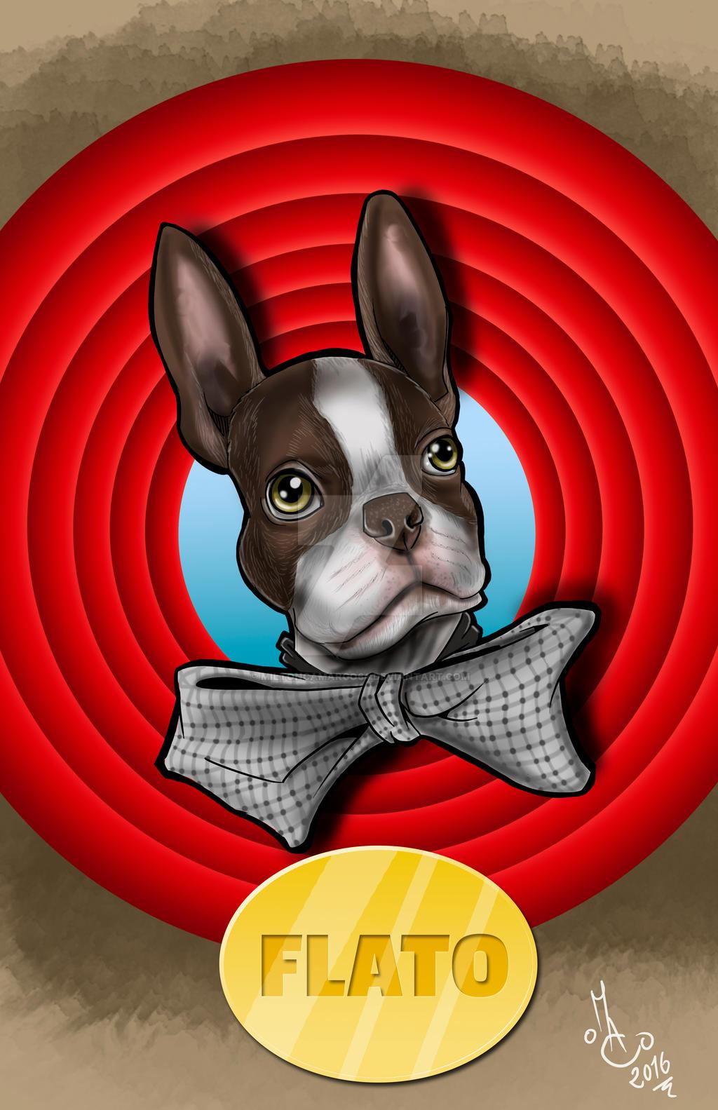 Flato. Pet Cartoon by MiltonCamargo64