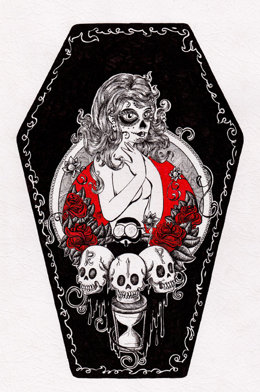 RIP Mexican Coffin by inkarts