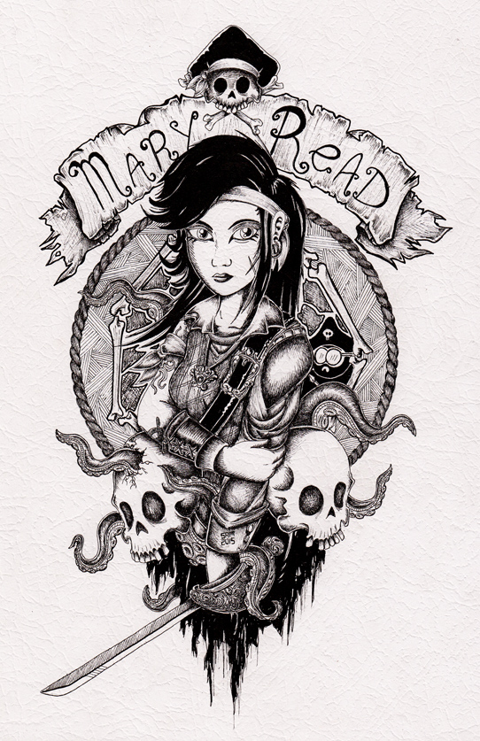 Mary Read by inkarts