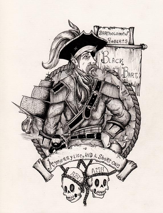 Bartholomew Roberts The Black Bart by inkarts