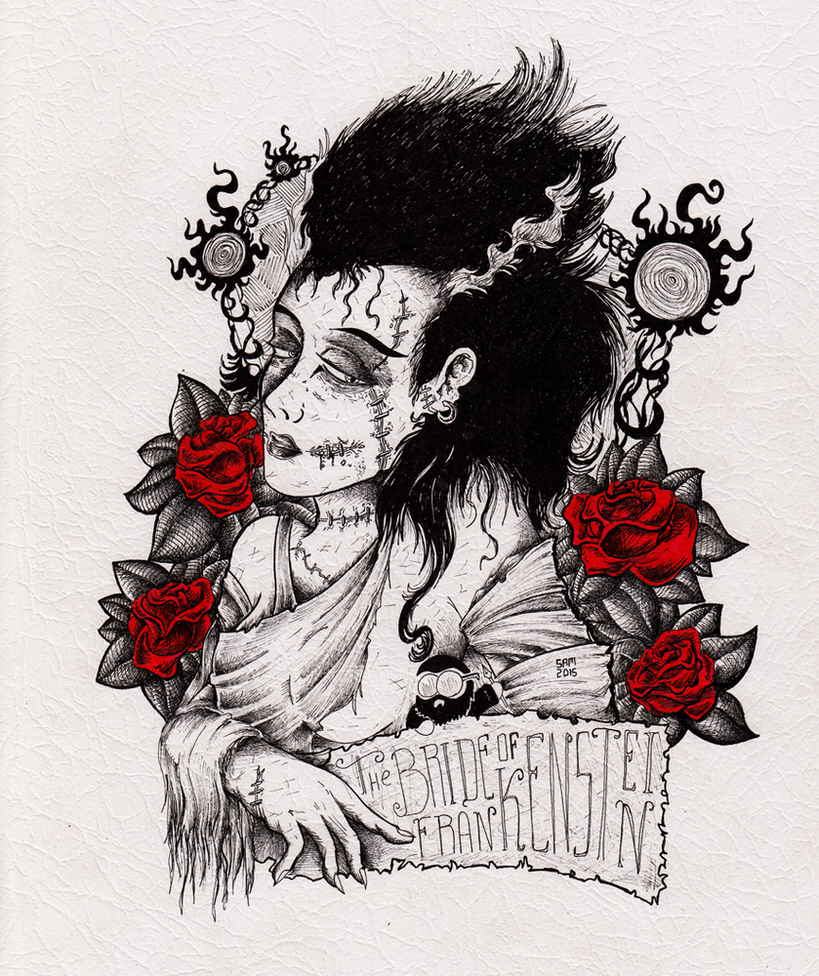 The Bride of Frankenstein by inkarts