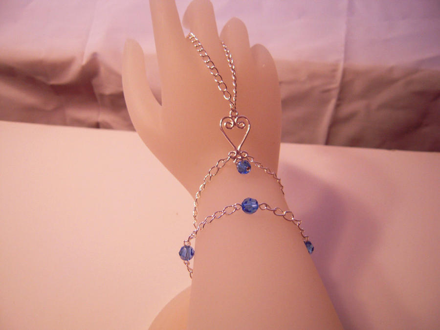 Heart Slave Bracelet with Swarovski Crystal Beads by SkillfulCreations