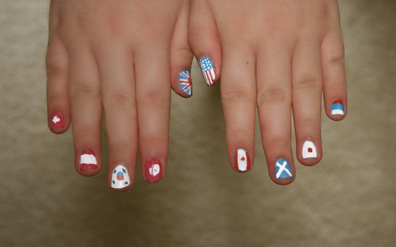 Nail Art--Country Flags 2 by KazeKakyoku on DeviantArt