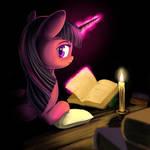 Books, Candle, Night