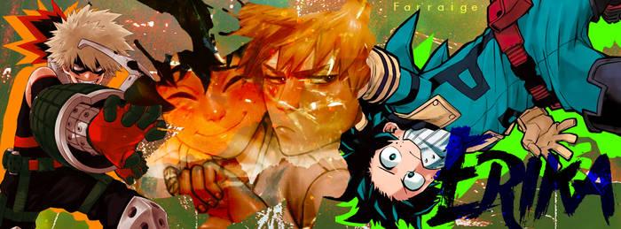 KatsuDeku Facebook Cover by jelsaSnowflake