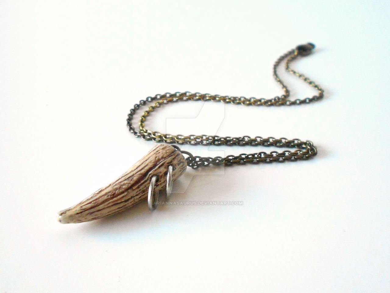 Orc Tusk Necklace by Ariannasaurus