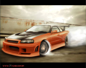 Skyline r34 drift spec