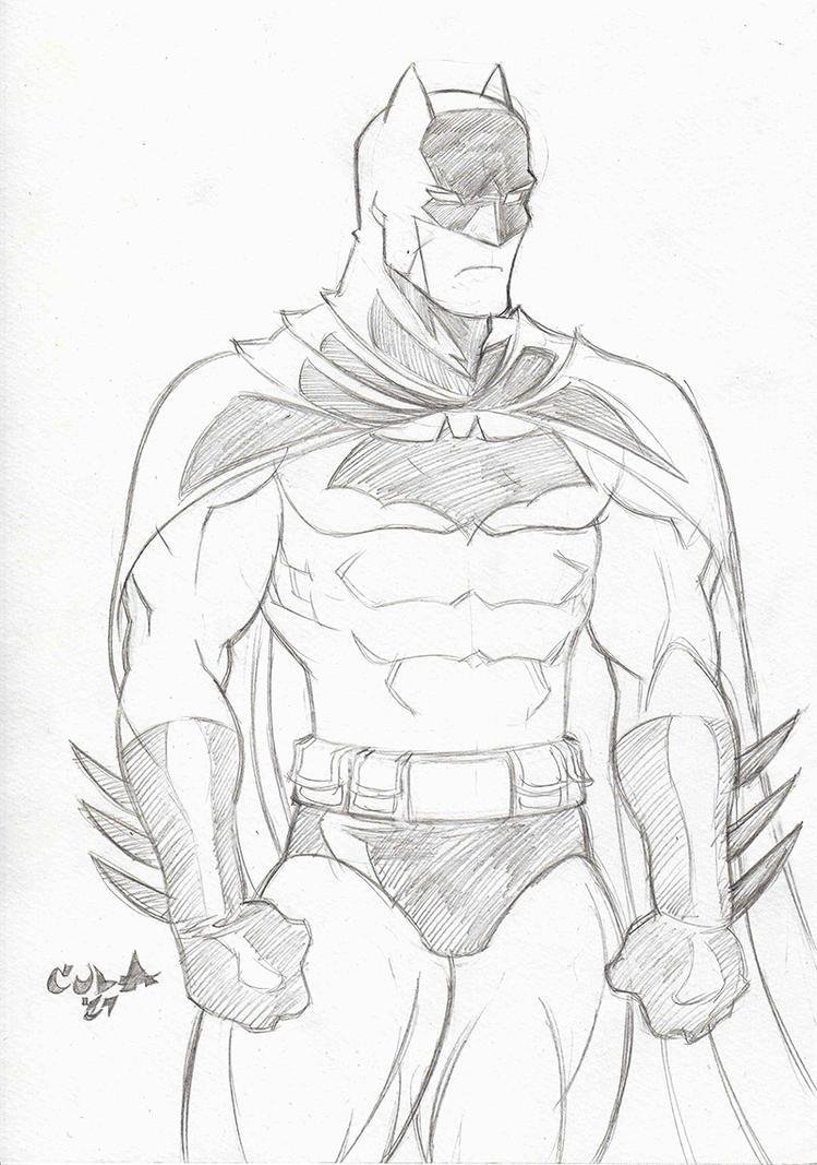 Batman sketch by Colaffee