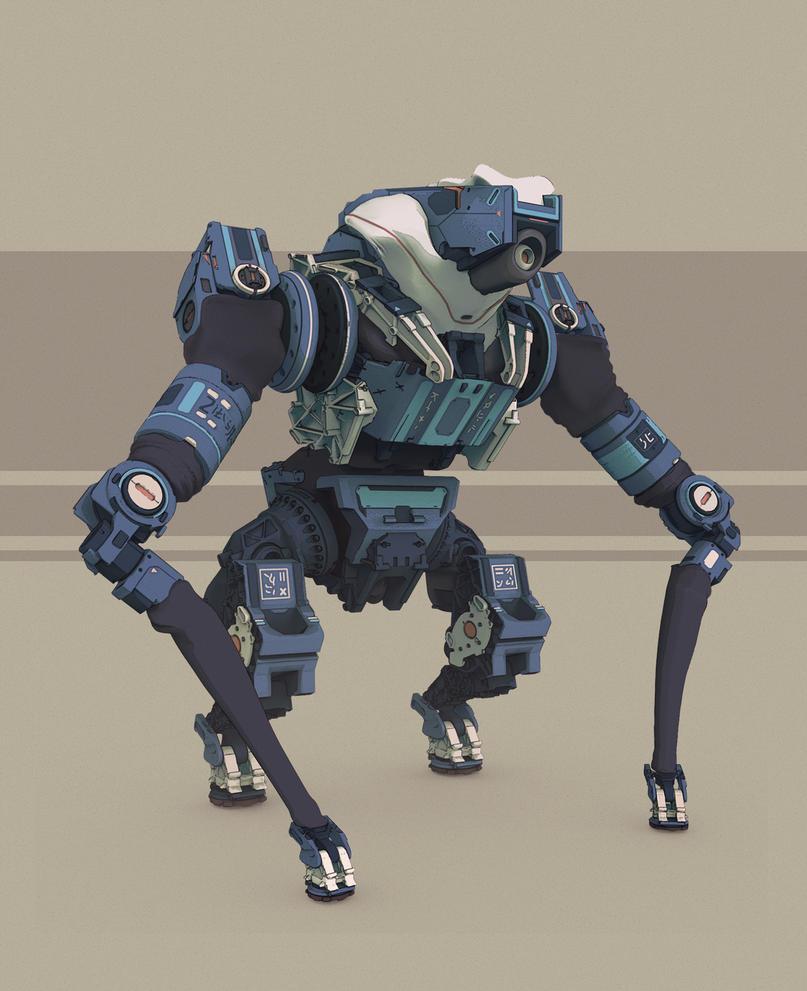 Robot Concept by NikitaMartianov