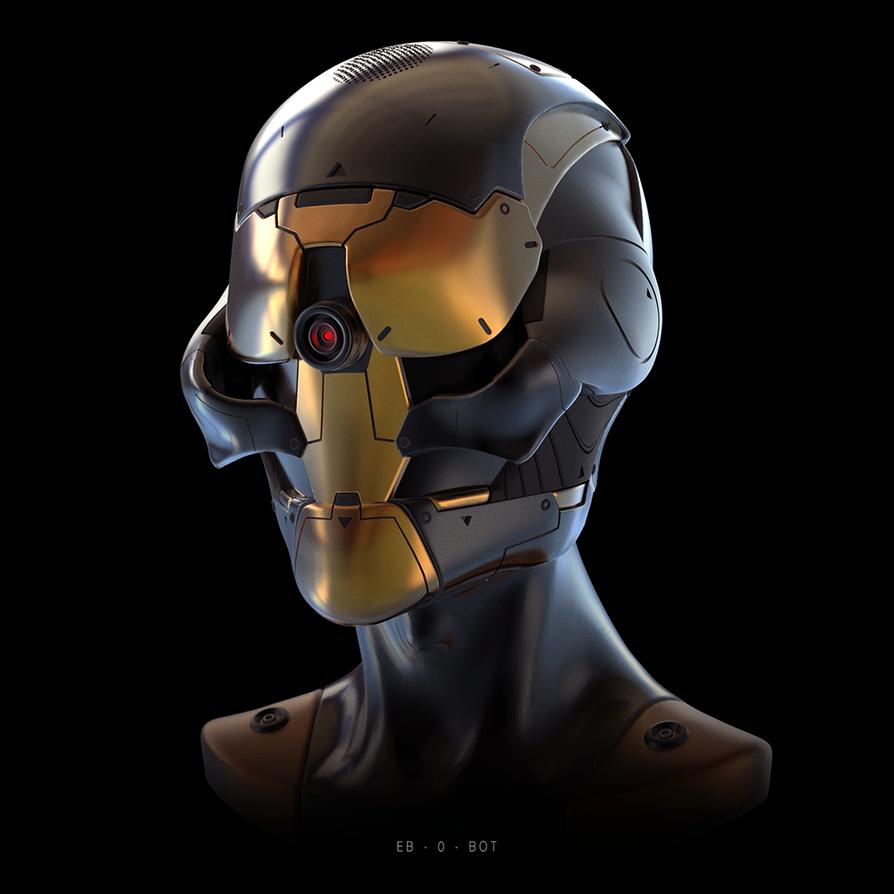 Robot head concept by NikitaMartianov