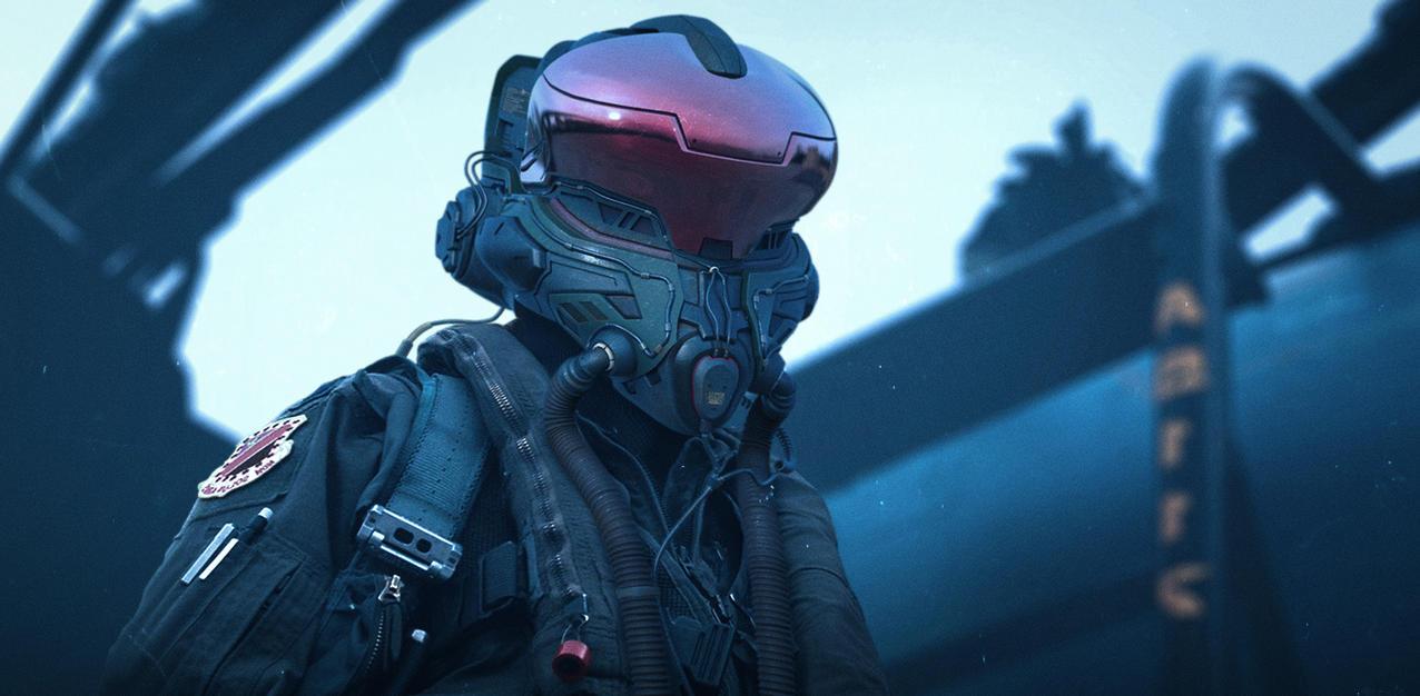 Pilot helmet by NikitaMartianov