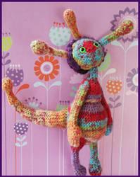 Alien crochet doll number 1 by DarkRaven17