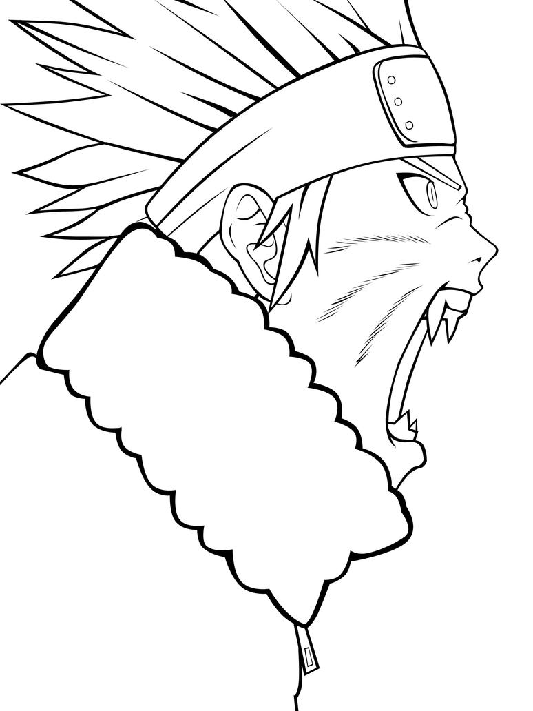Lineart Naruto : Naruto lineart by toa drawing on deviantart