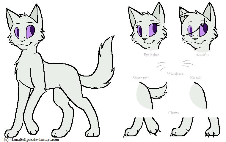 Рисунки котов воителей на паинте