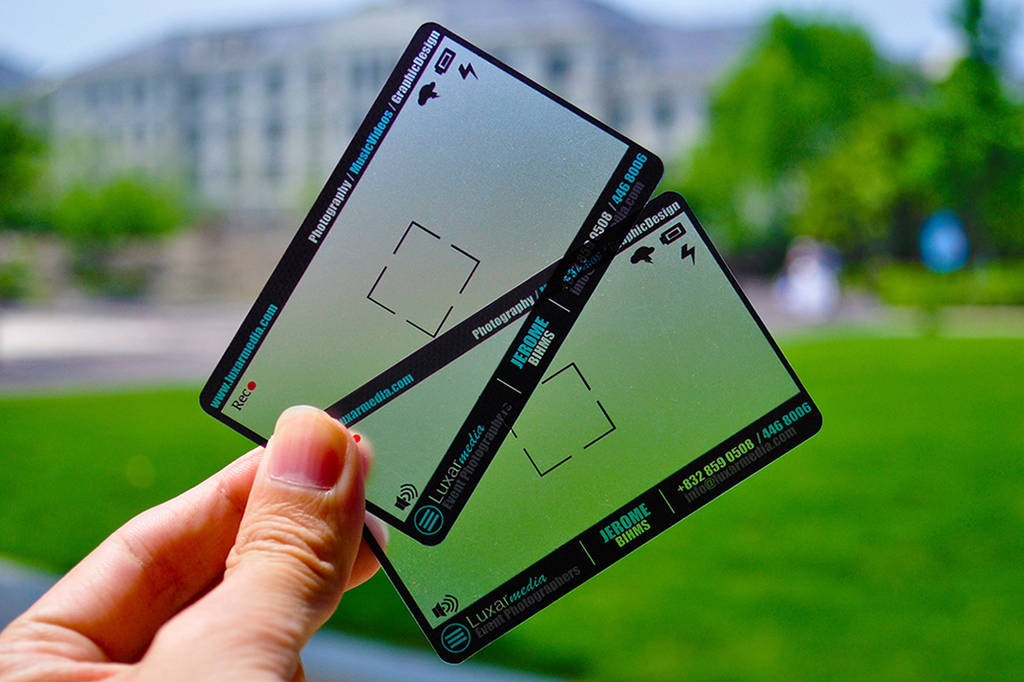 Transparent  Photographer Business Card by MarvelMedia