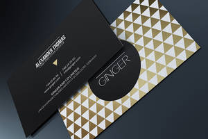 Premium Gold Business Card by MarvelMedia