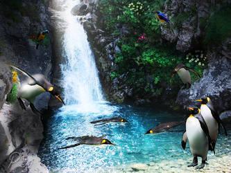 penguin's playground by Rikka21