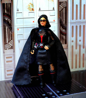 Scaled down Barbie Darth Vader