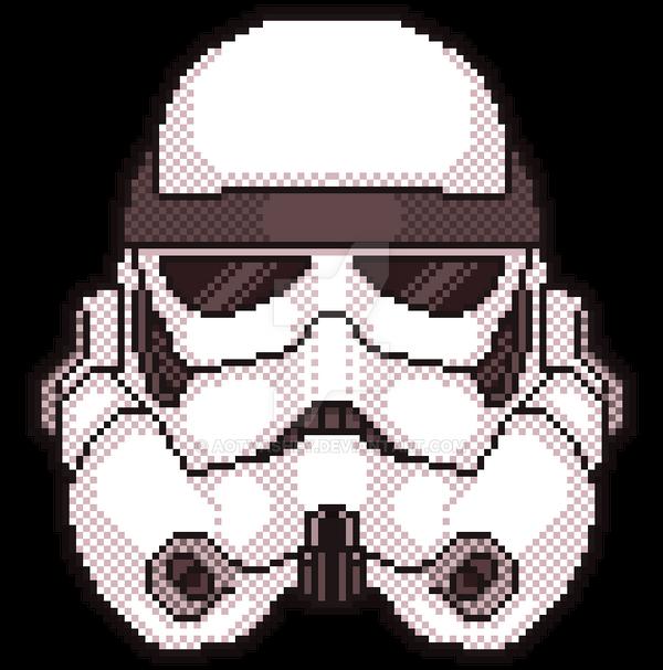 Storm Trooper Pixel Art By Aotvashey On Deviantart