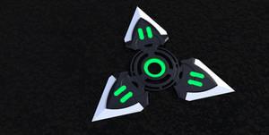 Sci-fi shuriken, green