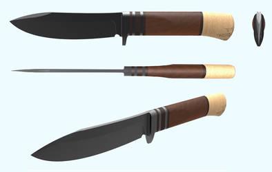 Hunting knife - download STEP STL