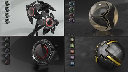 black style - 4 packs Full HD 1880p+