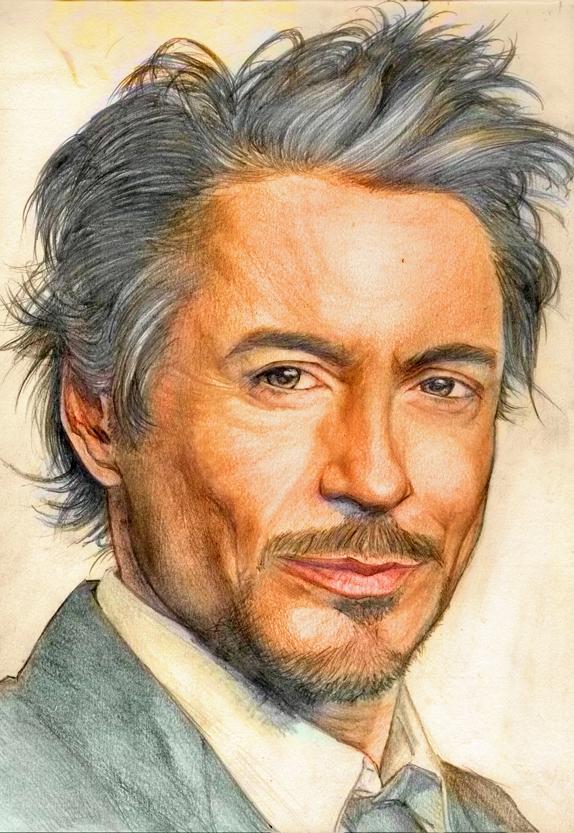 Robert Downey Jr color by YannWeaponX