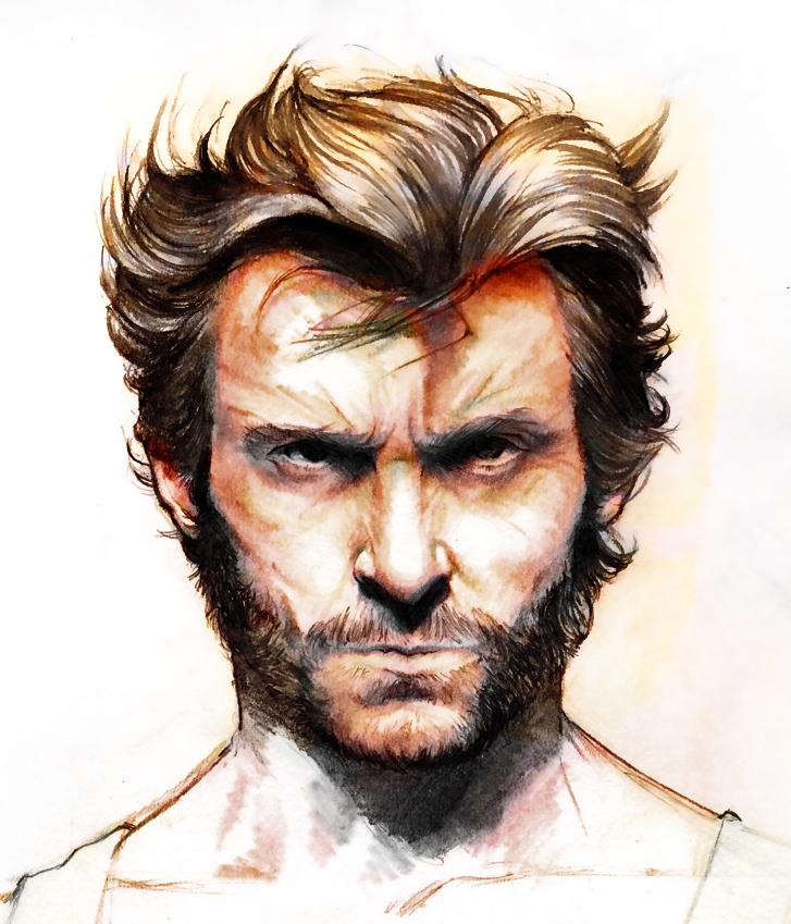 Hugh Jackman Wolverine colo by YannWeaponX