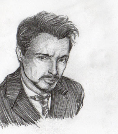 sketches  tony stark by YannWeaponX