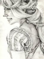 Rapunzel final B/W (Cloudninja9) by YannWeaponX
