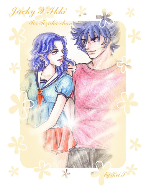 Art trade Jacky X Ikki by Kei-S
