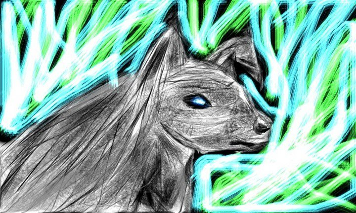 Trippy wolf painting - photo#25