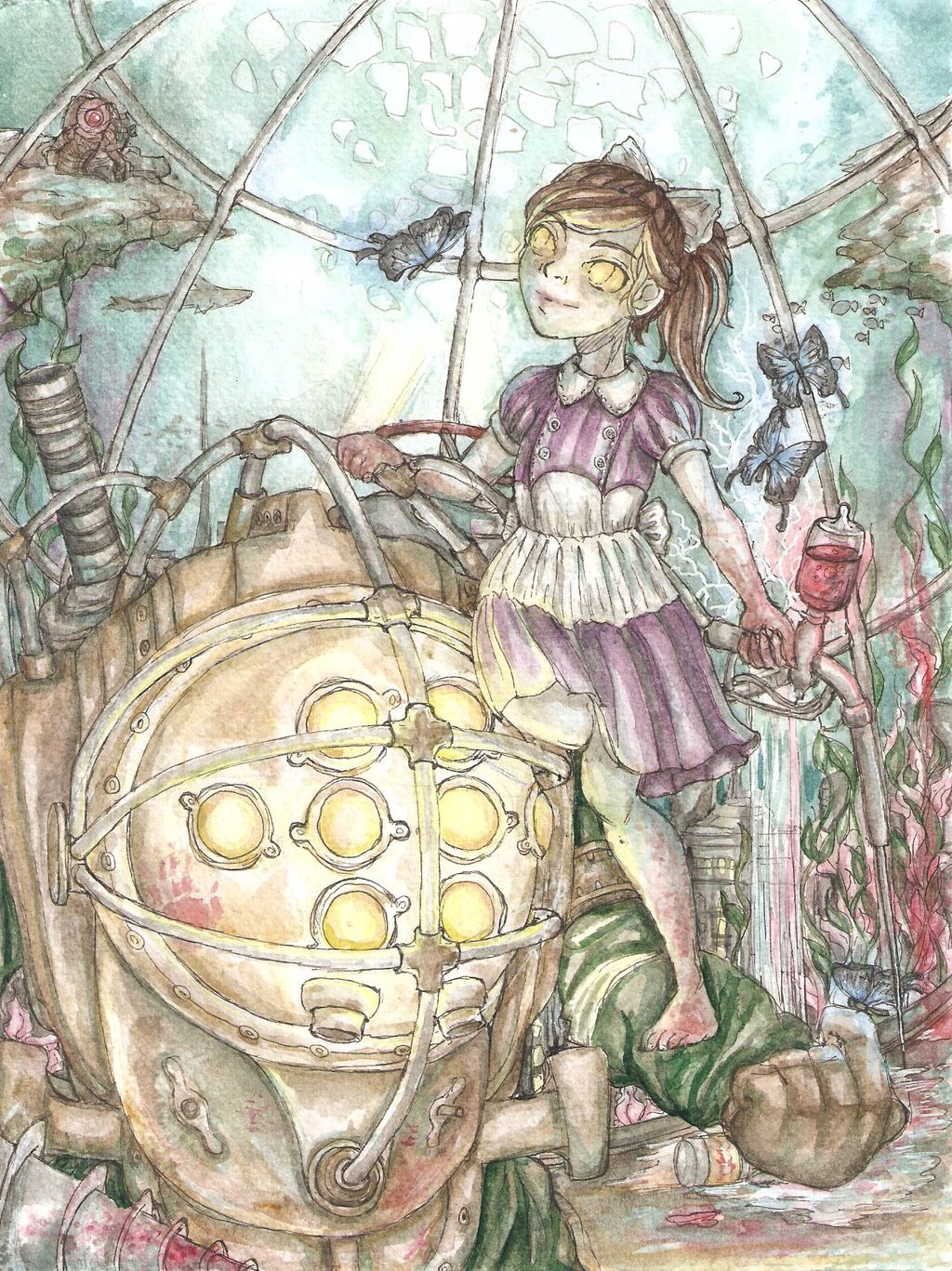 Bioshock 2: Big Daddy and Little Sister by Ruinless