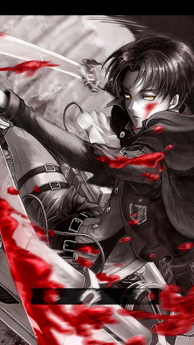 Lock Screen Attack On Titan Levi Wallpaper Gambarku