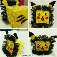 Pikachu cute cube by Geek-Girl-Fi