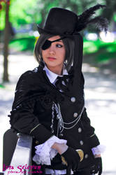 Ciel Phantomhive cosplay - Waiting by LunaSelenium