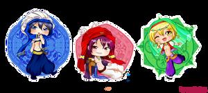 Free! Splash Chibis - Haruka, Rin and Nagisa