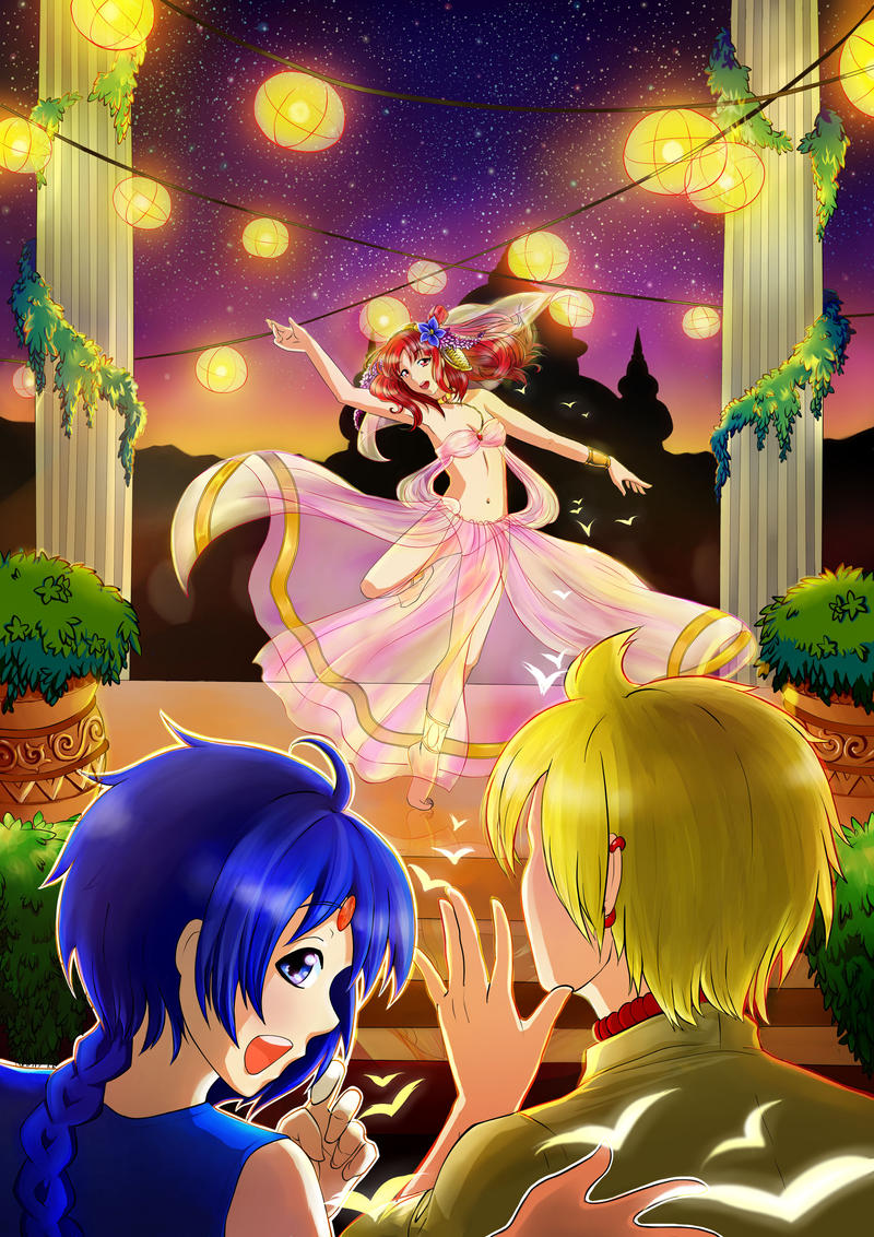 Dance! Morgiana! by LunaSelenium