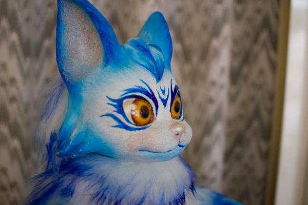 Snow - Fantasy cat poseable doll by LunaSelenium
