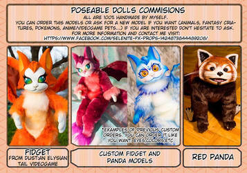 Poseable dolls commisions open! by LunaSelenium
