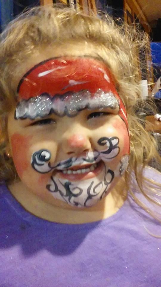 Santa Claus Face Paint By Funfacesballoon On Deviantart