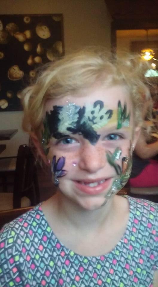 Panda face paint by funfacesballoon on DeviantArt
