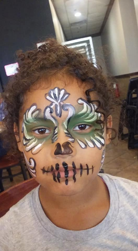 day of the dead face paint by funfacesballoon